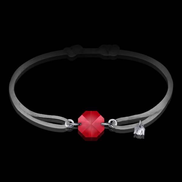 bracelet-en-cristal-rouge-cordon-gris