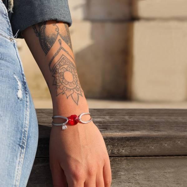 bracelet pierre de naissance rouge