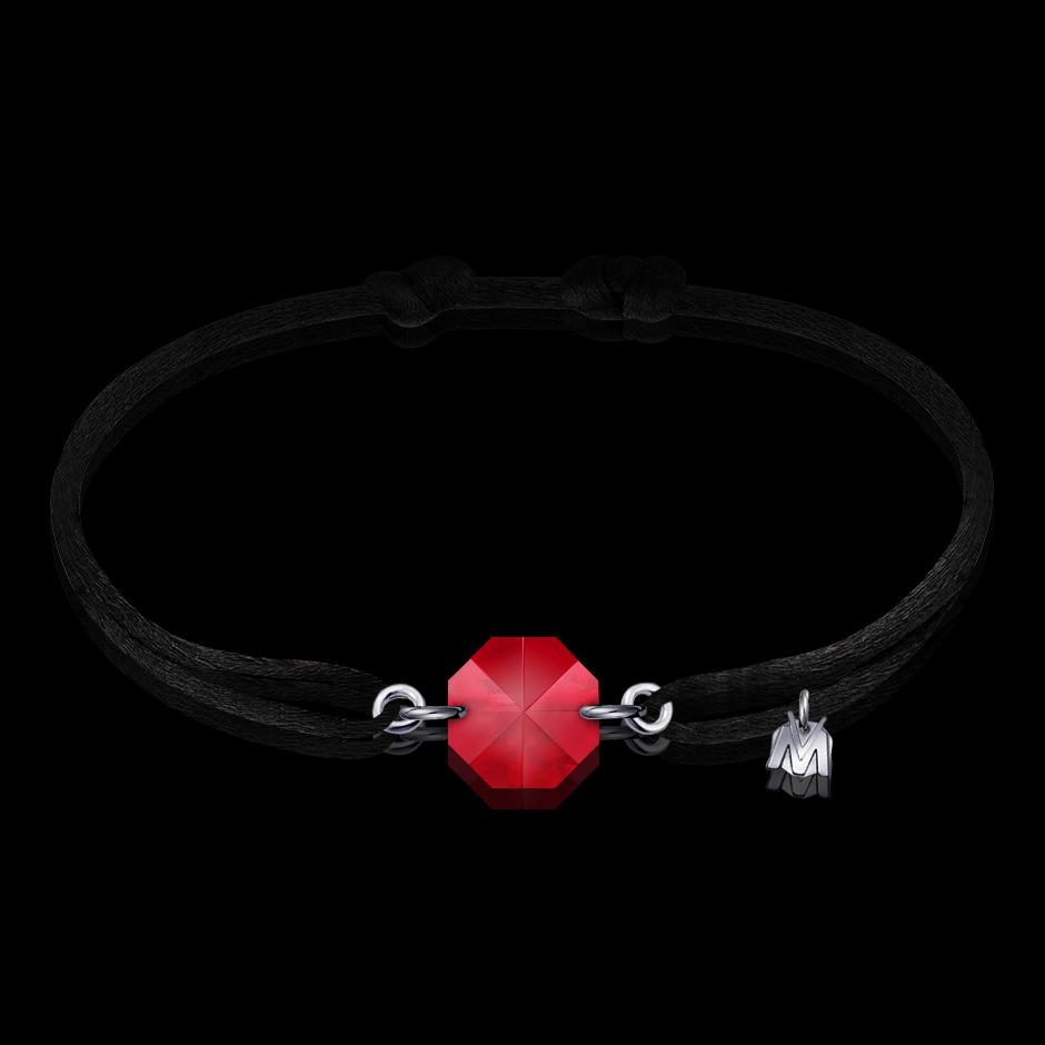 bracelet pour homme et femme en cristal rouge par michael vessiere