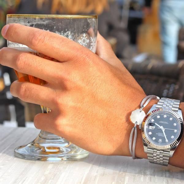 bracelet pour homme en cristal sable en lorraine
