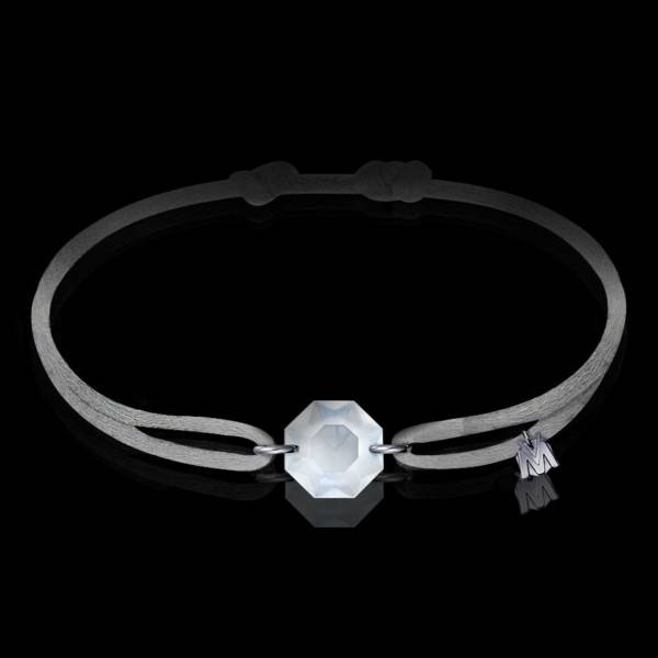 bracelet porte- bonheur cristal clair