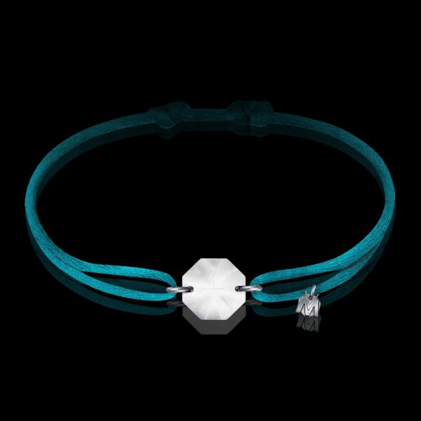 bracelet cristal sur cordon turquoise