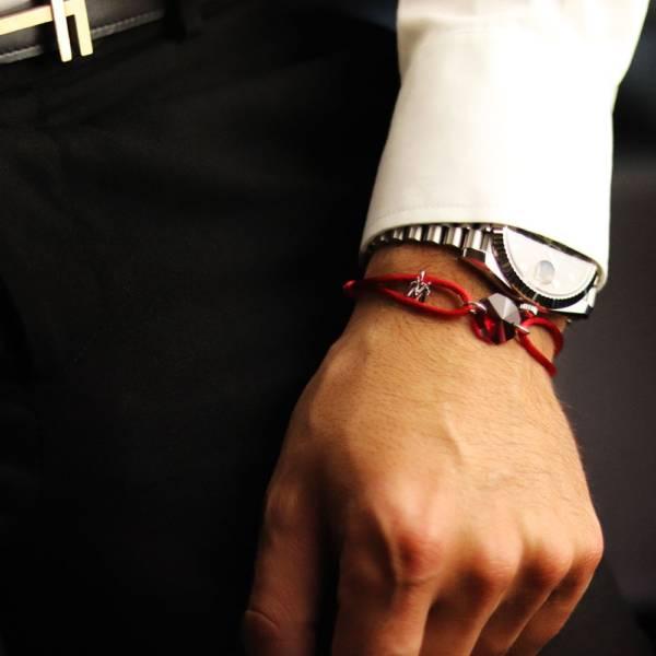 bracelet pierre rouge porte bonheur