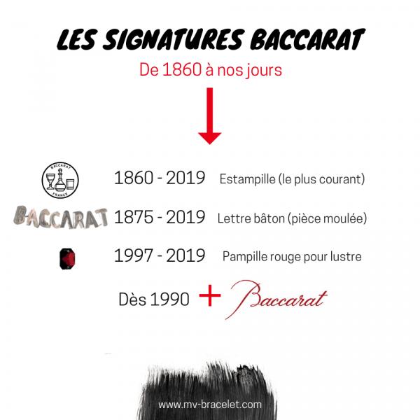 signature et marque de la cristallerie baccarat