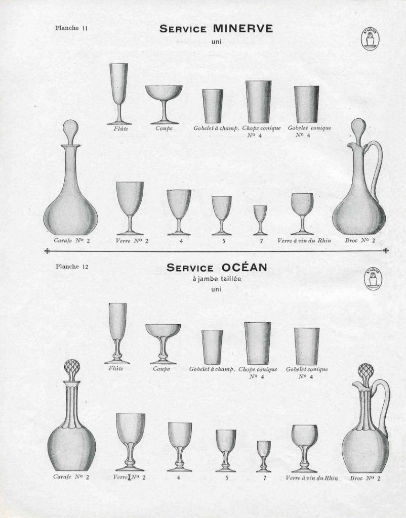 ancien catalogue de verre saint louis
