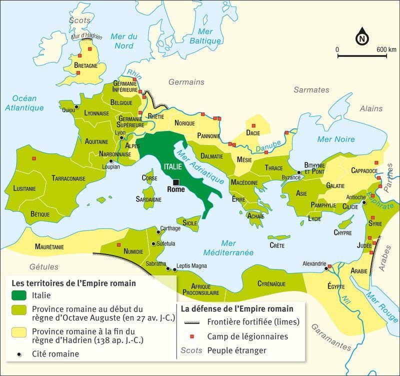carte de empire romain