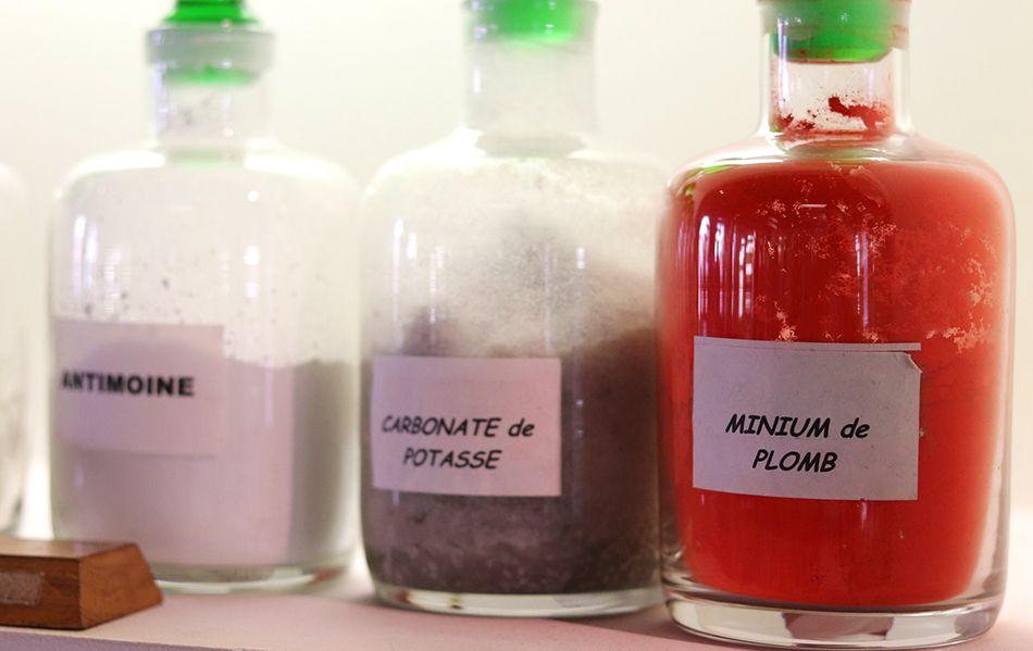 composition du verre avec plomb et potasse