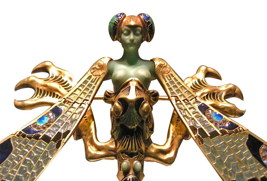 broche femme libellule de rene lalique