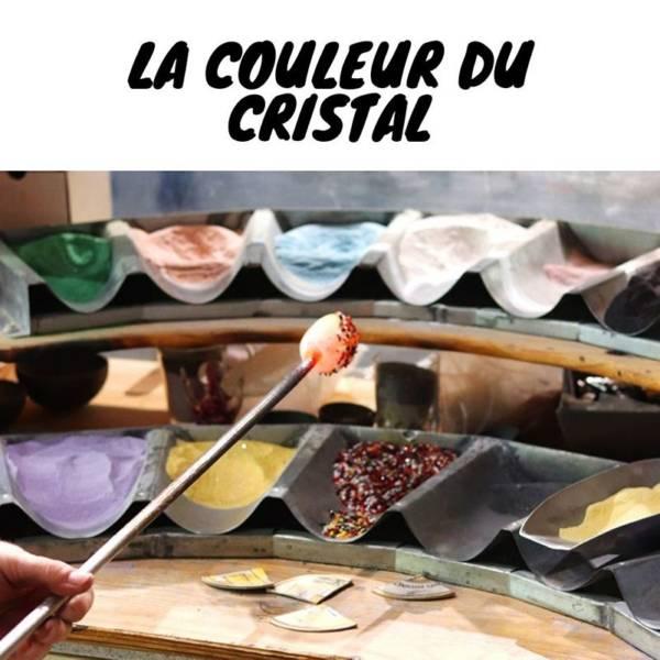 explication de la fabrication du cristal de couleur