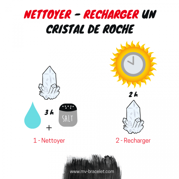 comment nettoyer et recharger son cristal de roche