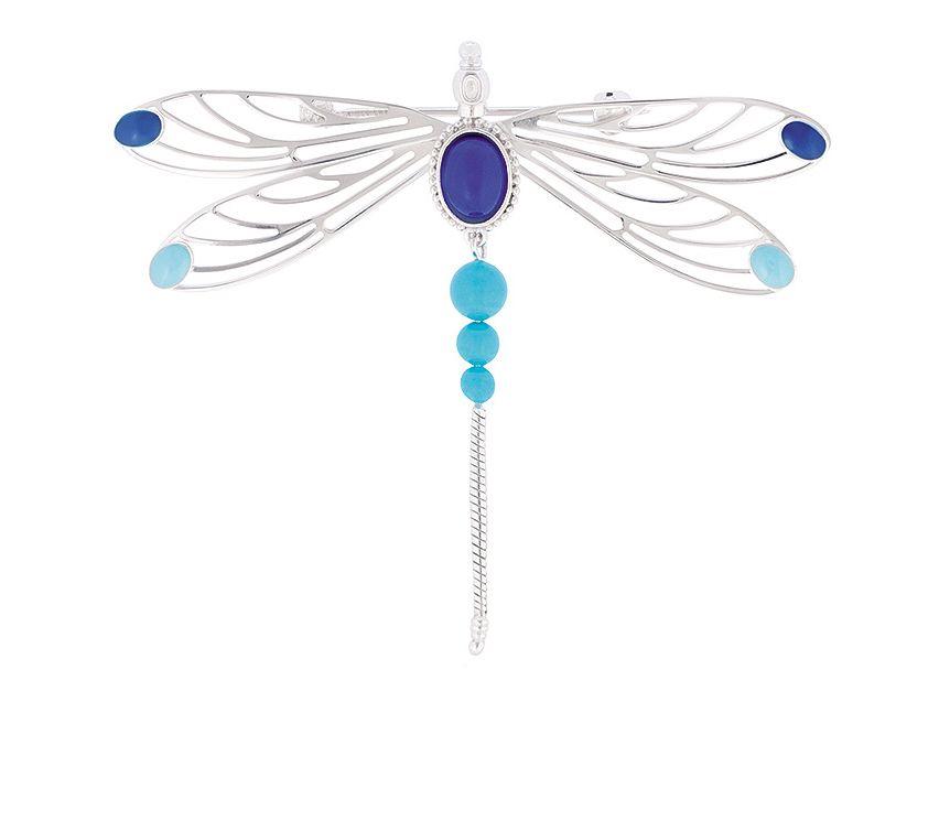bijoux broche libellule lalique