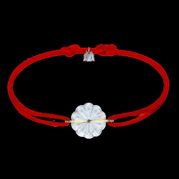 bracelet cordon rouge art nouveau pour femme