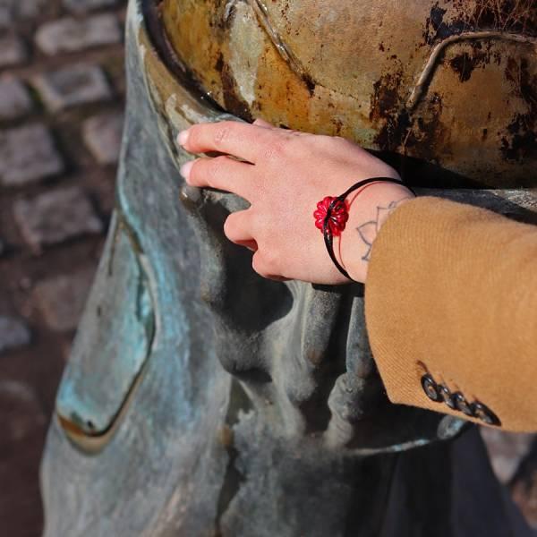 bracelet-fleur-rouge