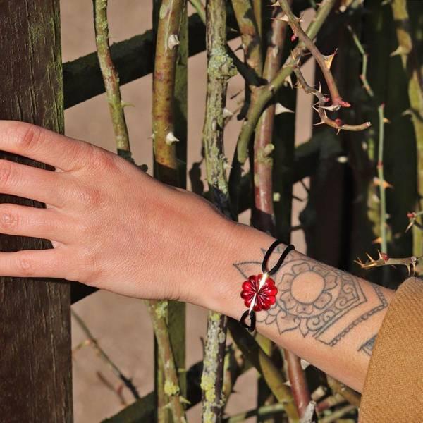 bracelet-rose-rouge