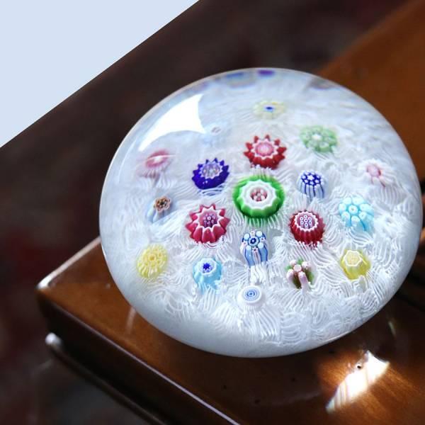 presse papier en cristal millefiori baccarat