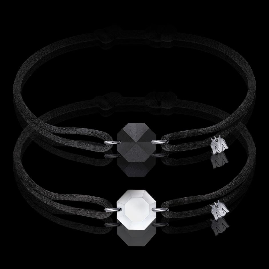 bracelet de couple porte-bonheur en cristal sable