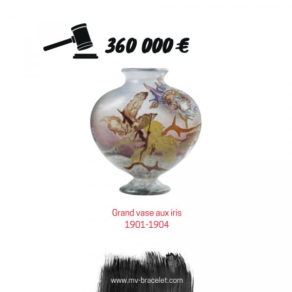 enchere record pour un vase Galle