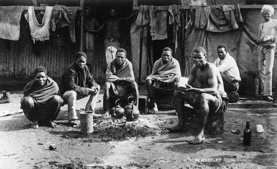 mineurs africains de la mine de Kimberley
