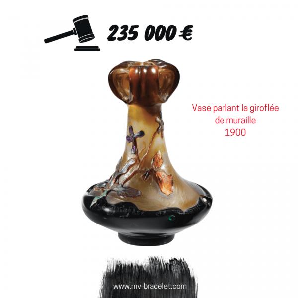 record d'enchere pour un vase Galle de 1900