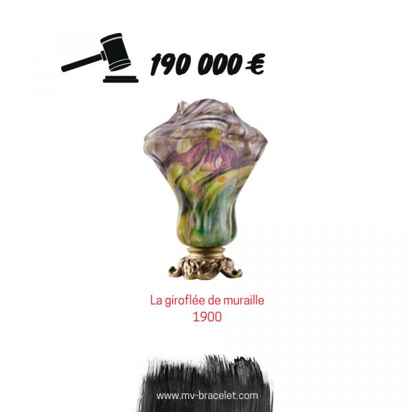 record de prix pour un vase Galle de 1900