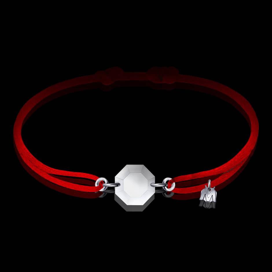 bracelet octogone en cristal porte-bonheur de michael vessiere