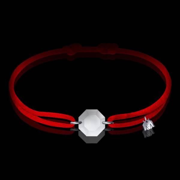 bracelet porte bonheur rock en cristal clair