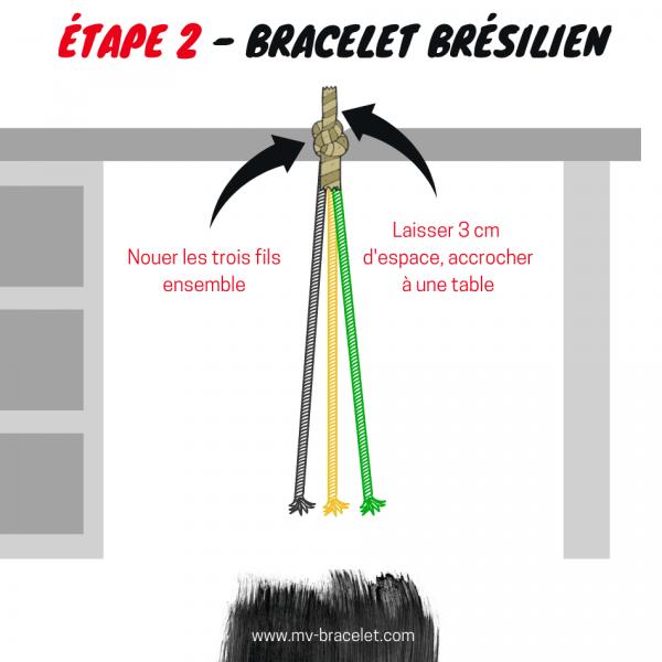 comment faire un bracelet bresilien
