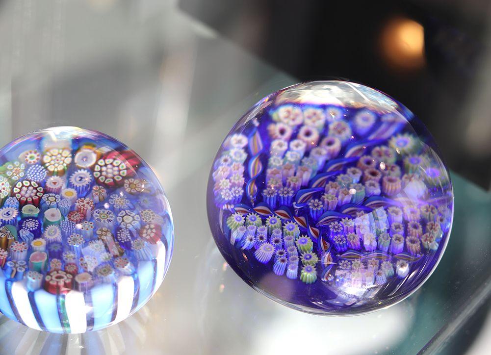 presse-papier millefiori en cristal