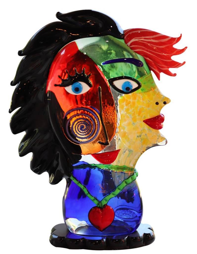 sculpture visage en Murano