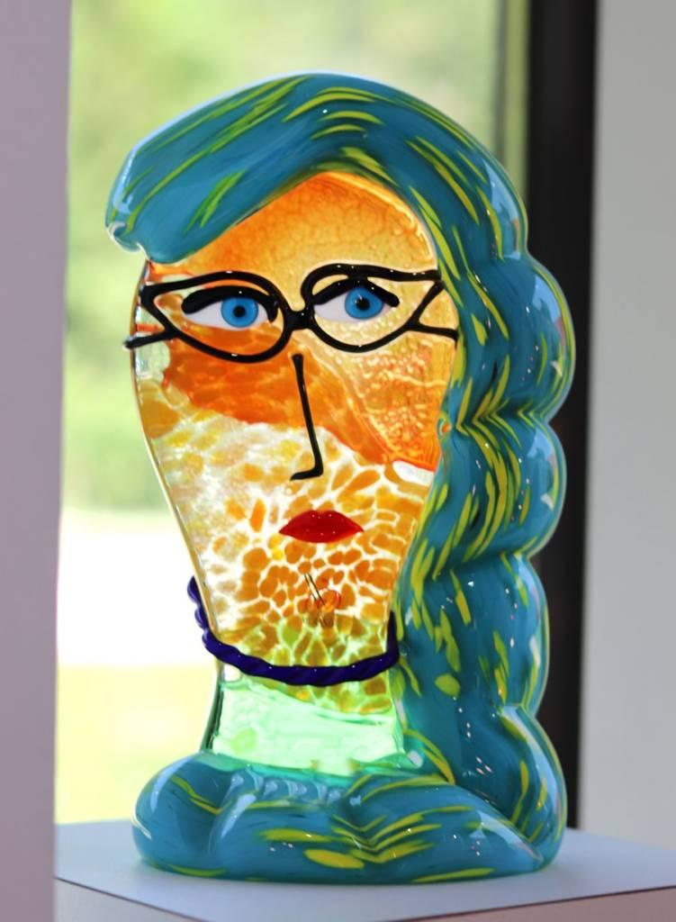 visage artistique en verre de murano
