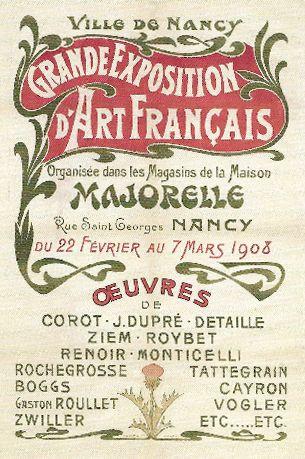 affiche Art nouveau maison Majorelle