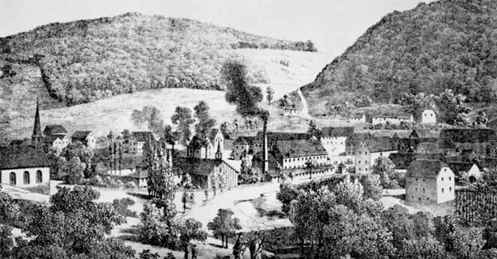 photographie de l'ancienne verrerie de meisenthal
