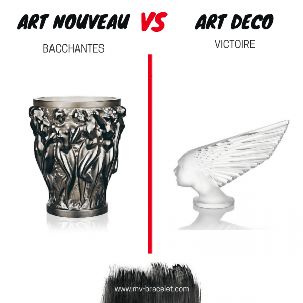 exemple de difference entre l'art nouveau et l'art deco