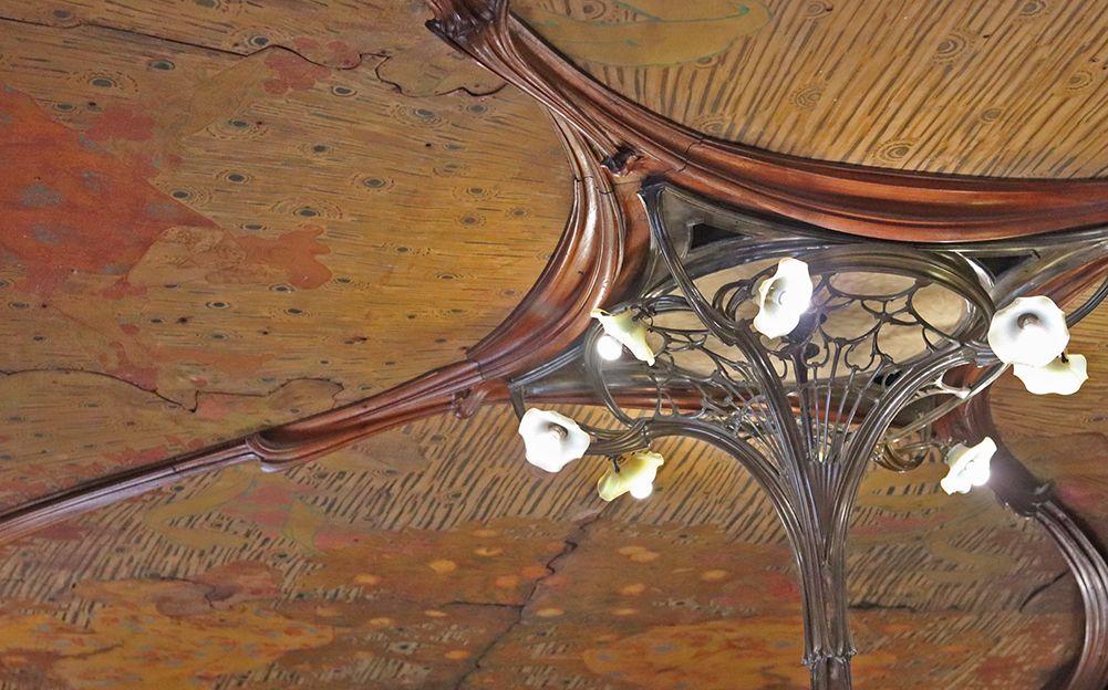 plafond de la salle a manger Vallin du musee de ecole de nancy