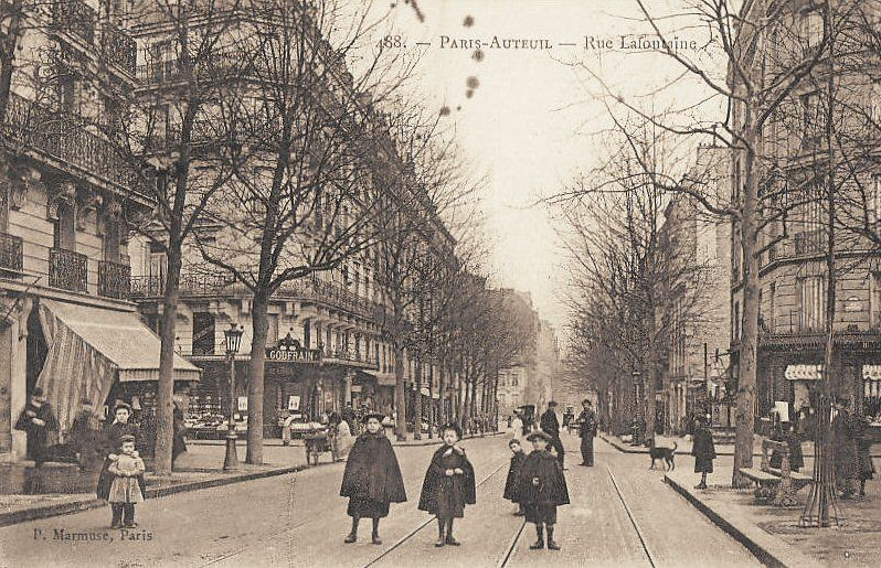 rue Lafontaine a paris 1900