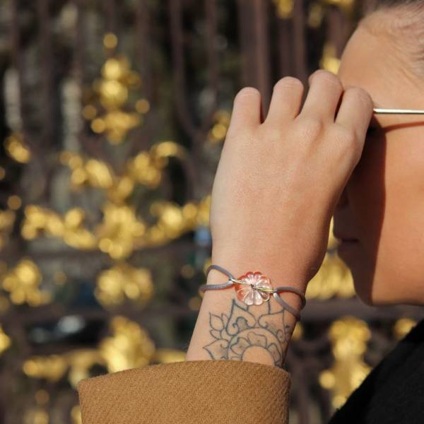 bracelet fleur art nouveau