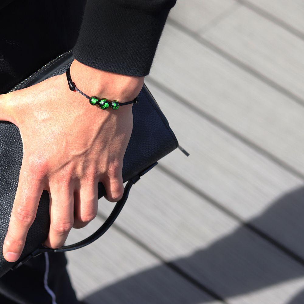 bracelet-perle-vert-planete