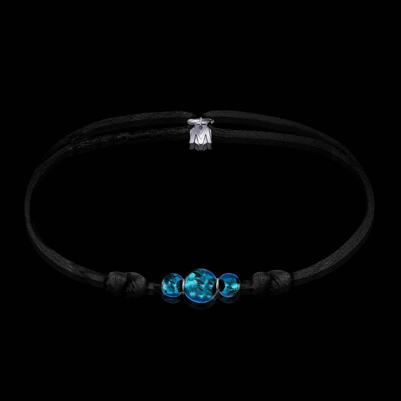 bracelet-tresor-argent-verre-bleu-sur-cordon