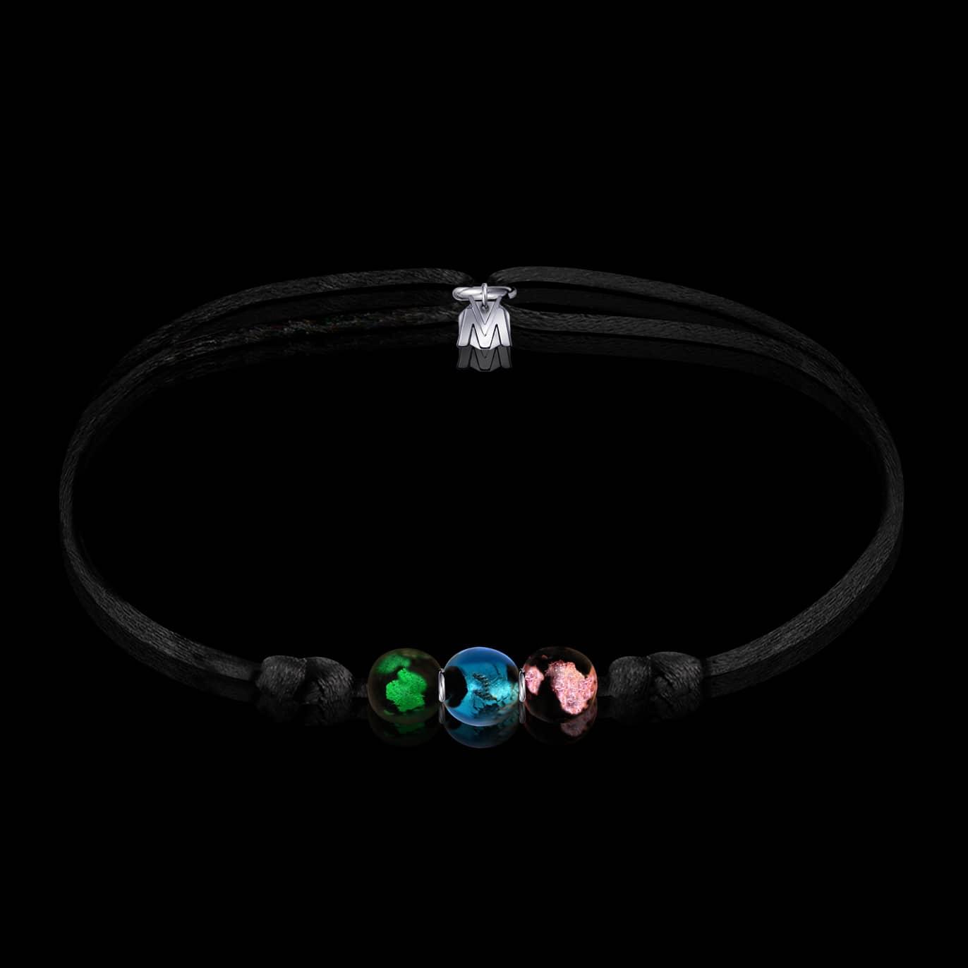 bracelet chakras sur cordon made in france par michael vessiere