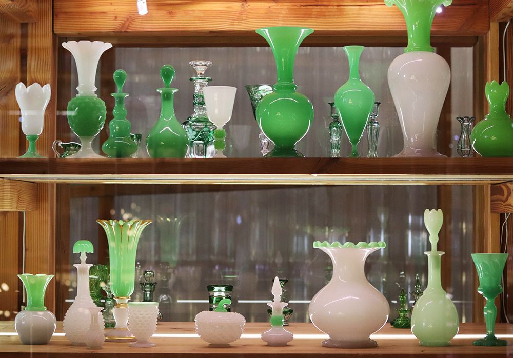 opaline vert de la cristallerie saint louis