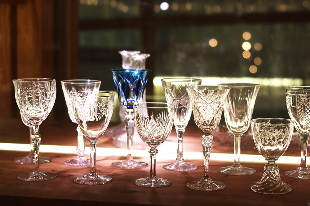 collection de verre au musee saint louis