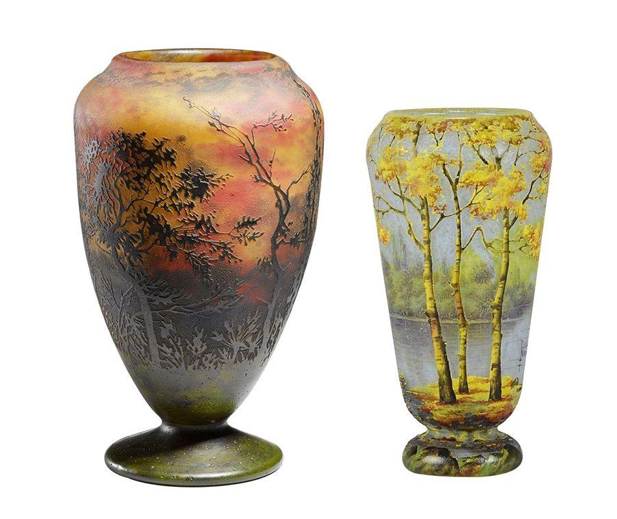 deux vases des freres daum