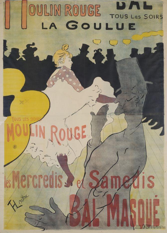 Affiche toulouse lautrec représentant « La Goulue » dansant le cancan