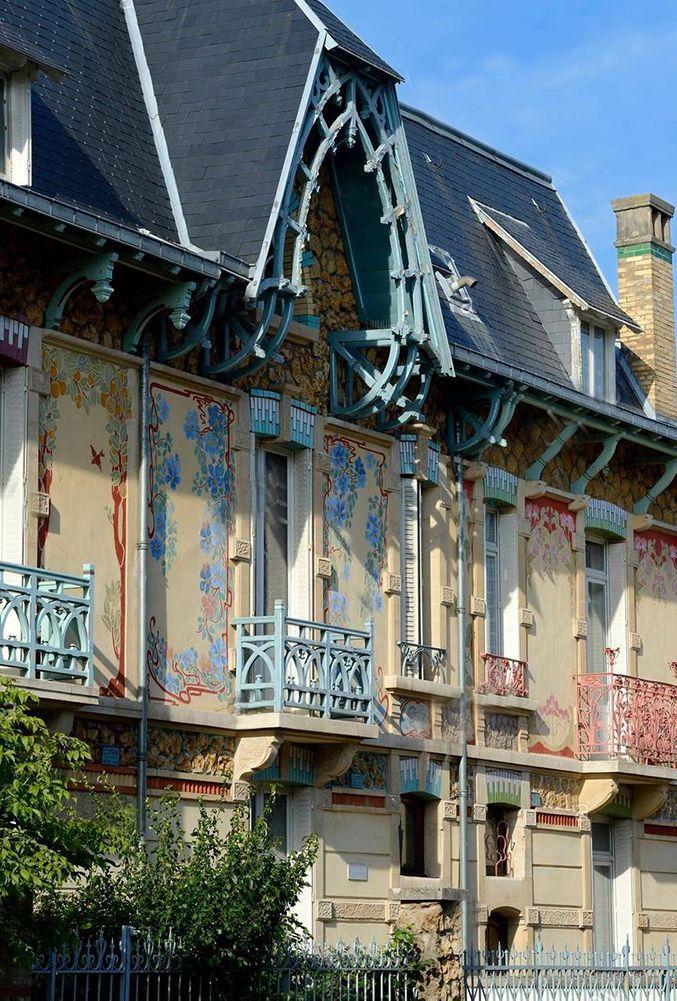 architecture art nouveau des villas rue Felix Faure nancy