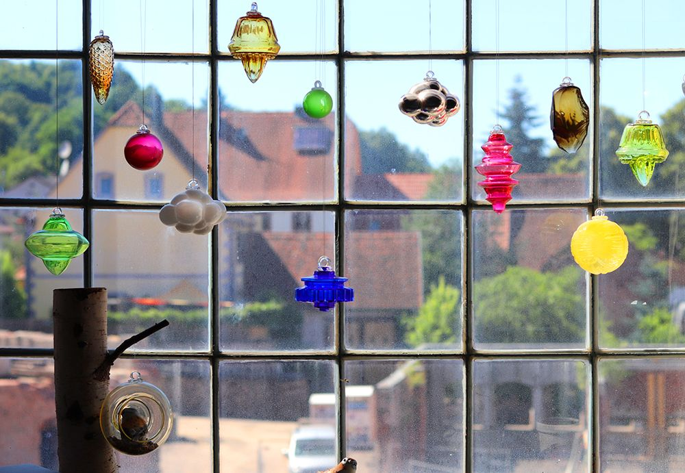 collection de boule de noel en verre fabrique a meisenthal