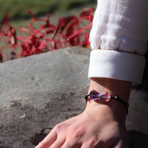bracelet en cristal rose pour femme