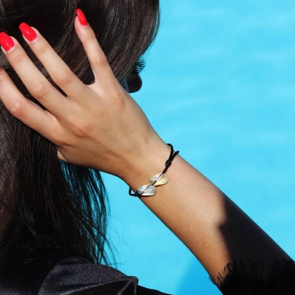 bracelet de couple toi et moi en cristal irise
