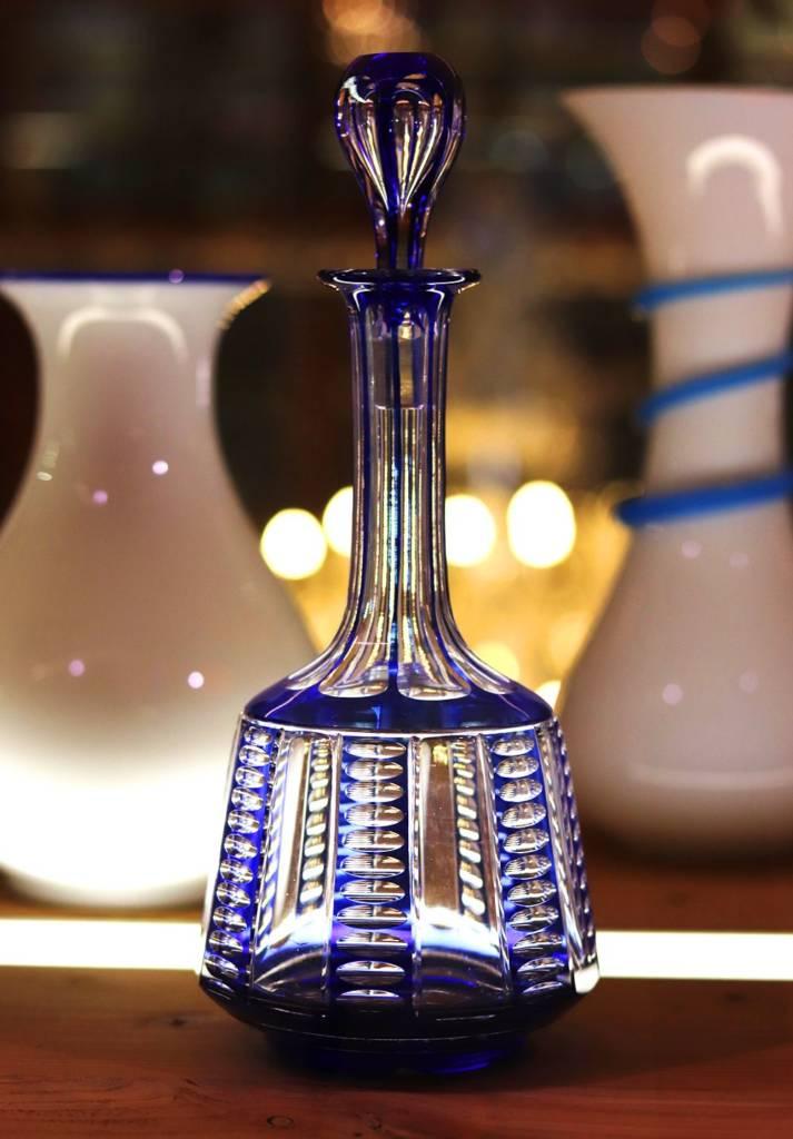 carafe double couleur bleu saint louis