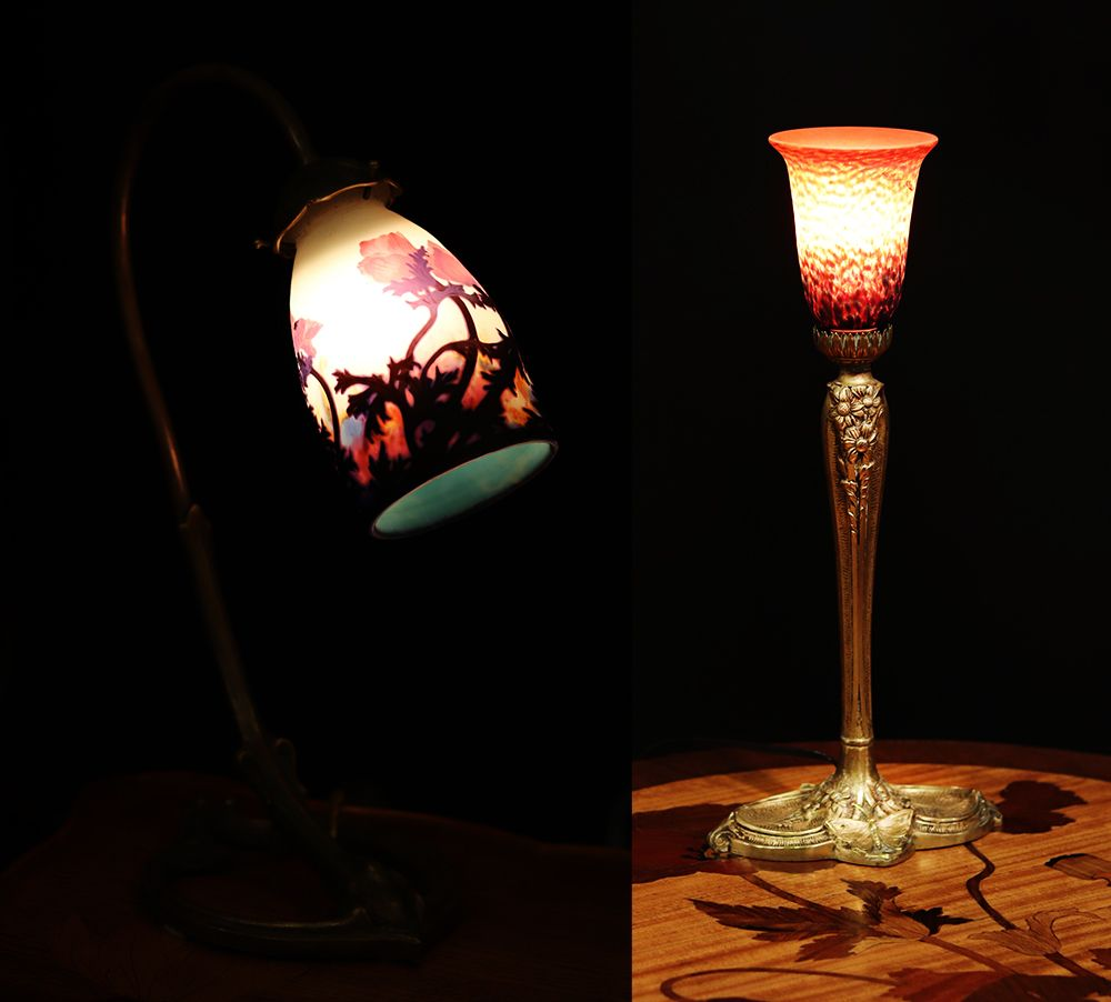 lampe art nouveau des freres daum