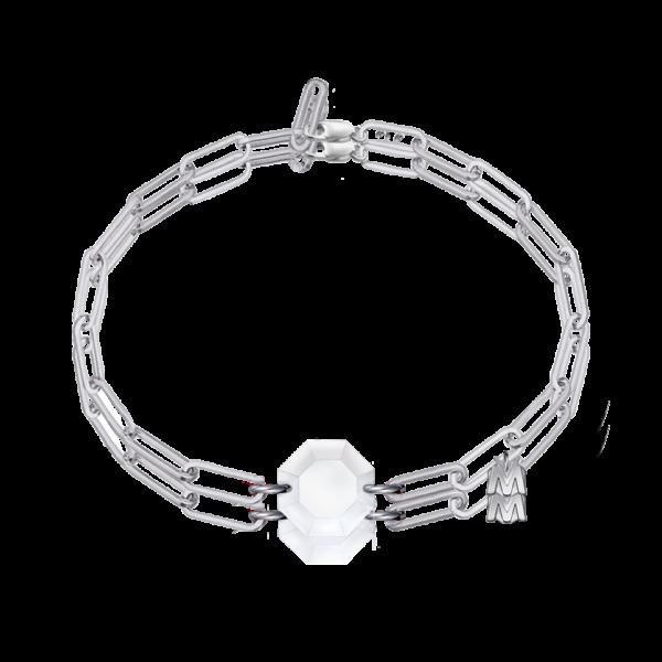 bracelet en cristal clair argent